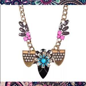 T & J Designs Flower Crystal Necklace